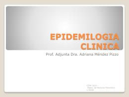 EPIDEMILOGIA CLINICA - Instituto de Higiene