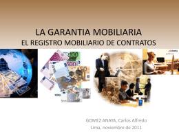 LA GARANTIA MOBILIARIA EL REGISTRO MOBILIARIO DE …
