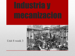 Industry and Mechanization