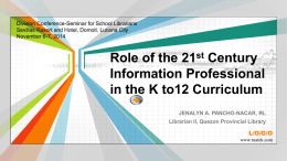 Role of the 21st Century Information Professional in the …