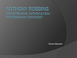Anthony Robbins Entrepreneur, Author & Peak …