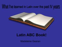 Latin ABC Book! - SchoolWorld an Edline Solution