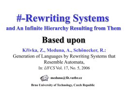 Bounder Rewriting Systems