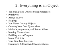 2: Everythingis an Object