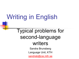 Writing in English