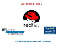 Workbook 8, and 9 - Seidenberg School of Computer …