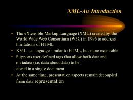 XML-An Introduction