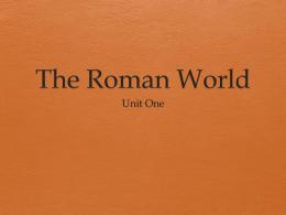 The Roman World