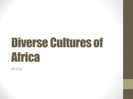 Diverse Cultures of Africa - McCullers' World Explorers