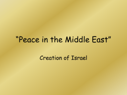 Peace in the Middle East""