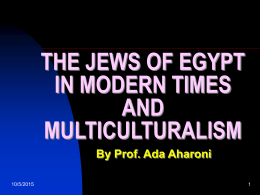 The Jews of Egypt in Modern Times