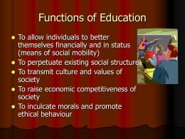 Education- The Singapore Context