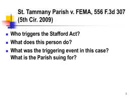 St. Tammany Parish v. Federal Emergency Management …