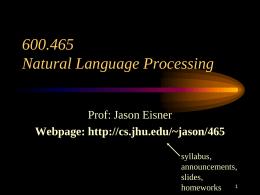 Lecture 1 - Johns Hopkins University