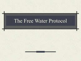 The Frazier Water Protocol