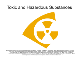 Subpart Z – Toxic and Hazardous Substances