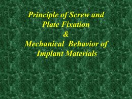 Principle of Screw and Plate Fixation & Mechanical