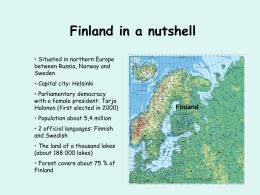 Finland in a nutshell - Šiuolaikinių didaktikų centras