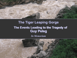 Tiger Leaping Gorge - The story of Guy Peleg