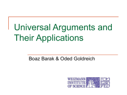 Universal Arguments and Their Applications