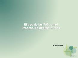 El uso de las TICs en el Proceso de Debate Interno