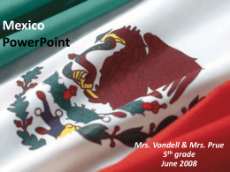 Mexico Grade 5 PowerPoint