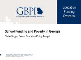 School Funding and Poverty in Georgia
