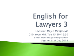 English for Law 1