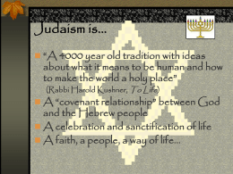 What is Judaism? - University of Missouri