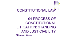 CONSTITUTIONAL LAW 1 What is the Constitution?