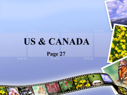 US & CANADA - Mrs. Davis' World Geography