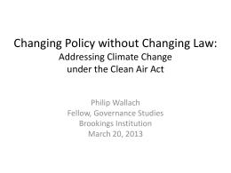 Changing Policy without Changing Law: Addressing …