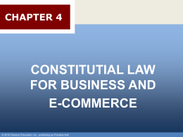 Chapter 003 - Constitutional Authority to Regulate Business