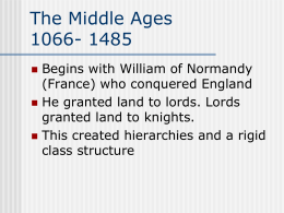 The Middle Ages 1066