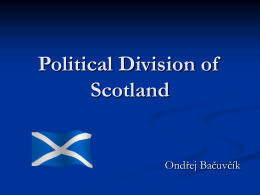Political Division of Scotland