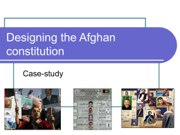 Designing the Afghan constitution