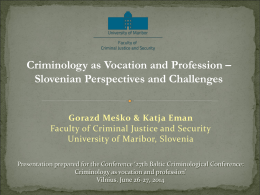 Catching up with Western and New World Criminology