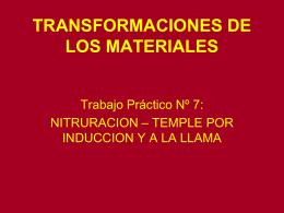 TRANSFORMACIONES DE LOS MATERIALES