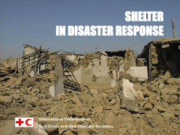 Shelter in disaster response - IFRC.org