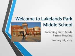 Lakelands Park Middle School