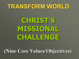 "The Strategic ""Mission Focuses"" of Every Home for Christ"