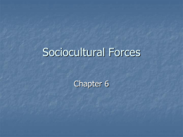 Sociocultural Forces - Eastern Mediterranean University