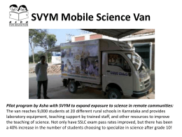 SVYM Mobile Science Van