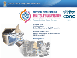 Digital Preservation Standards for e