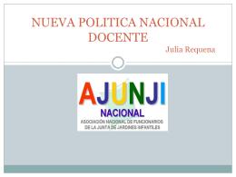 NUEVA POLITICA NACIONAL DOCENTE