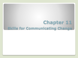 Managing Change - دانشگاه صنعتی شریف