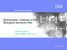 Haystack and the Semantic Web
