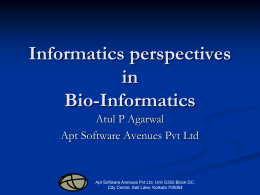The Informatics in BioInformatics