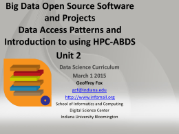 Big Data Open Source Software and Projects HPC-ABDS