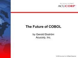 Acucorp, Inc. - Avances Tecnologicos – Club de